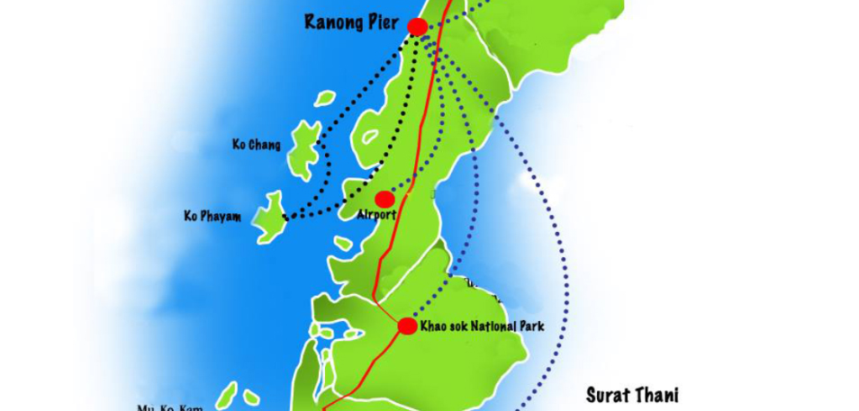 Map of Koh Payam